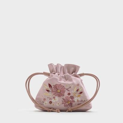 フローラル エンブロイダリー スリングバッグ / FLORAL EMBROIDERY SLING BAG (Pink)