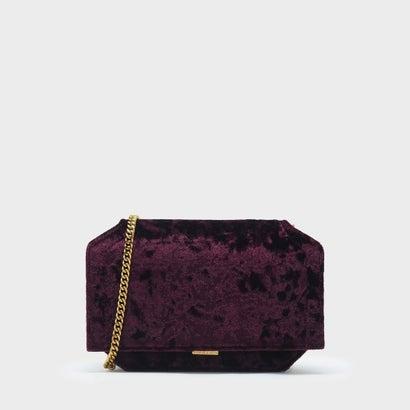 ドレッシーチェーン クラッチバッグ / DRESSY CHAIN CLUTCH BAG (Burgundy)
