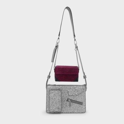 デュオショルダーバッグ / DOU SHOULDER BAG (Silver)