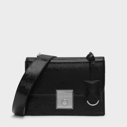 プッシュロックサチャルバッグ / PUSH-LOCK SATCHEL BAG (Black)