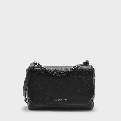プッシュロックチェーンショルダーバッグ / PUSH-LOCK CHAIN SHOULDER BAG (Black)