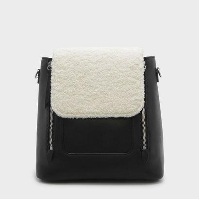 フロントフラップショルダーバッグ / FRONT FLAP SHOULDER BAG (Black)