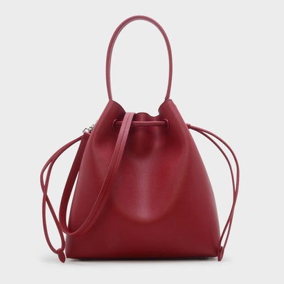 ベーシックドローストリングショルダーバッグ / BASIC DRAWSTRING SHOULDER BAG (Red)
