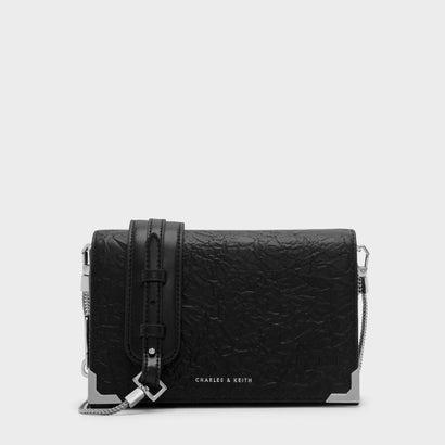 フロントフラップスリングバッグ / FRONT FLAP SLING BAG (Black)