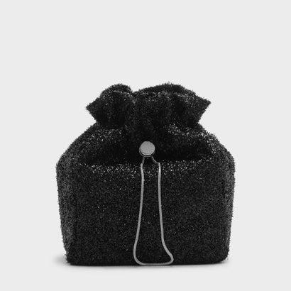 テクスチャードドローインドスイングバッグ / TEXTURED DRAWSTRING SLING BAG (Black)