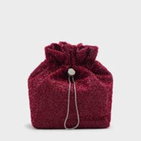 テクスチャードドローインドスイングバッグ / TEXTURED DRAWSTRING SLING BAG (Red)