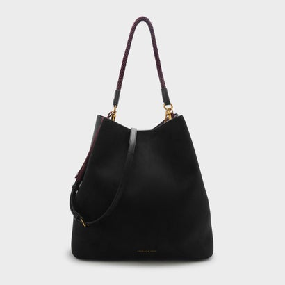 タッセルディテールショルダーバッグ / TASSEL DETAIL SHOULDER BAG (Black)