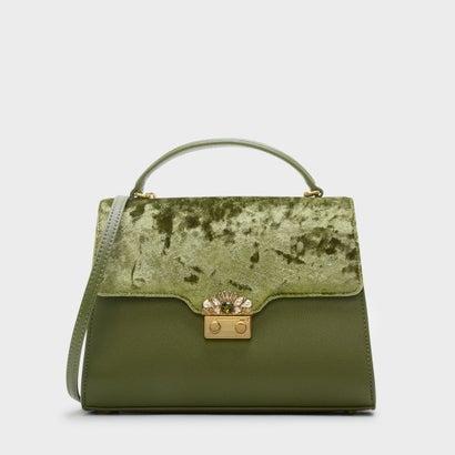 エンベリッシュバックルバッグ / EMBELLISHED BUCKLE BAG (Green)