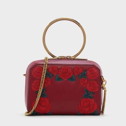 ローズエンブロイダリースリングバッグ / ROSE EMBROIDERY SLING BAG (Red)
