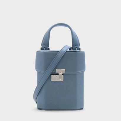 ボクシープッシュロックハンドバッグ / BOXY PUSH-LOCK HANDBAG (Blue)