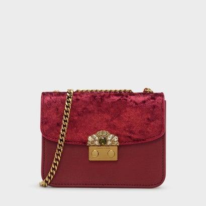 エンベリッシュバックルクロスボディバッグ / EMBELLISHED BUCKLE CROSSBODY BAG (Red)
