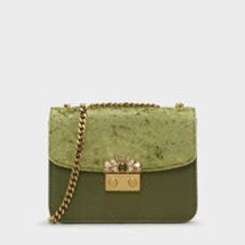 エンベリッシュバックルクロスボディバッグ / EMBELLISHED BUCKLE CROSSBODY BAG (Green)
