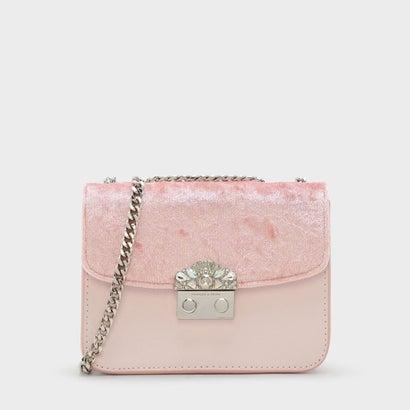 エンベリッシュド バックル クロスボディバッグ / EMBELLISHED BUCKLE CROSSBODY BAG (Pink)