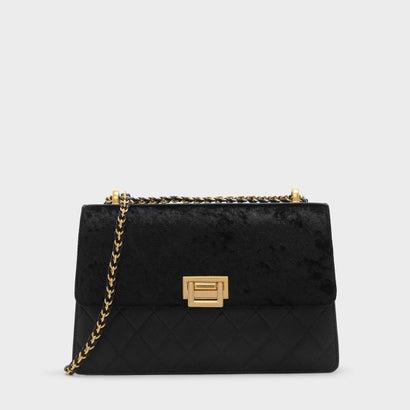 トラピゾイドショルダーバッグ / TRAPEZOID SHOULDER BAG (Black)