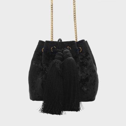 タッセルドローストリングバッグ / TASSEL DRAWSTRING BAG  (Black)