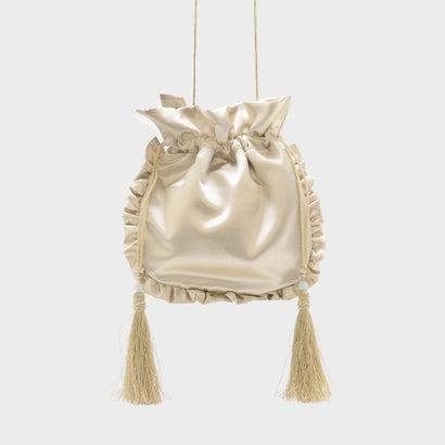 タッセルディテールドローストリングバッグ / TASSEL DETAIL DRAWSTRING BAG (Gold)