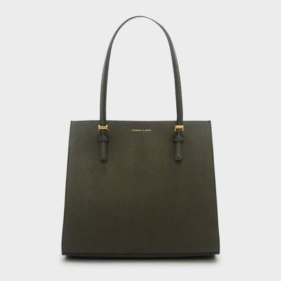 オーバーサイズストラクチャートートバッグ / OVERSIZED STRUCTURED TOTE BAG (Olive)