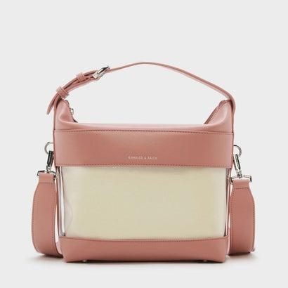 ボクシィトランスペアレンシーショルダーバッグ / BOXY TRANSPARENT SHOULDER BAG (Blush)