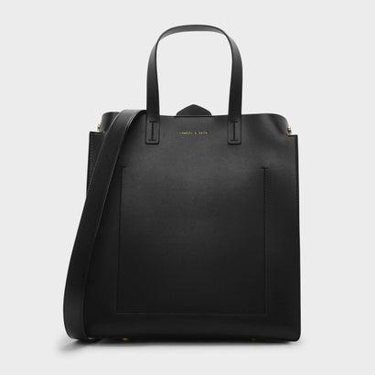 オーバーサイズストラクチャートートバッグ / OVERSIZED STRUCTURED TOTE BAG (Black)