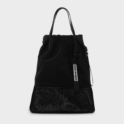 メッシュディテールドローストリングバックパック / MESH DETAIL DRAWSTRING BAGPACK (Black)