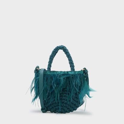 キッズフェザーウーブンバッグ / KIDS FEATHERED WOVEN BAG  (Green)