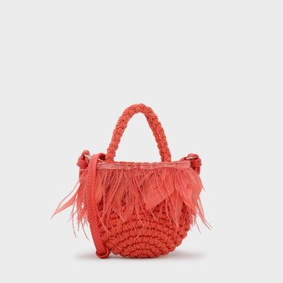 キッズフェザーウーブンバッグ / KIDS FEATHERED WOVEN BAG  (Orange)
