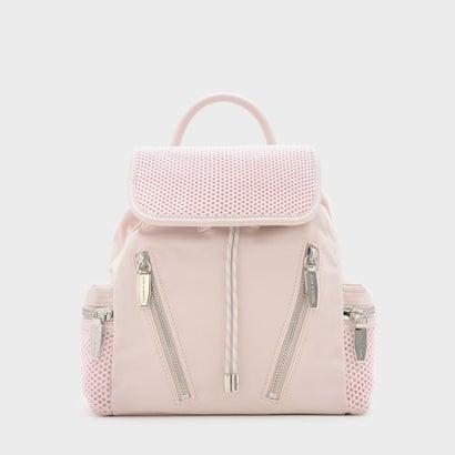 メッシュディテールショルダーバッグ / MESH DETAIL SHOULDER BAG (Pink)