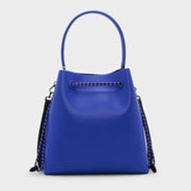 トップハンドルバケットバッグ / TOP HANDLE BUCKET BAG (Blue)