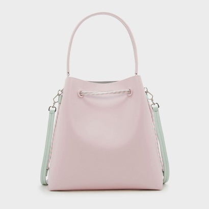 トップハンドルバケットバッグ / TOP HANDLE BUCKET BAG  (Pink)