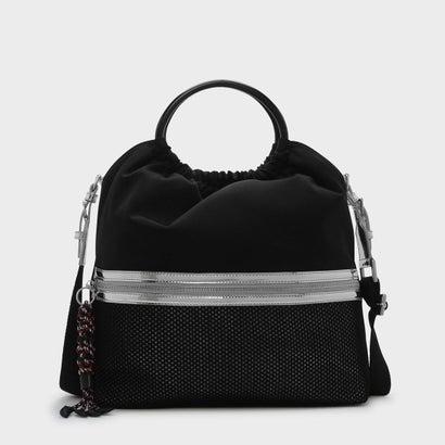 メッシュディテールトートバッグ / MESH DETAIL TOTE BAG (Black)