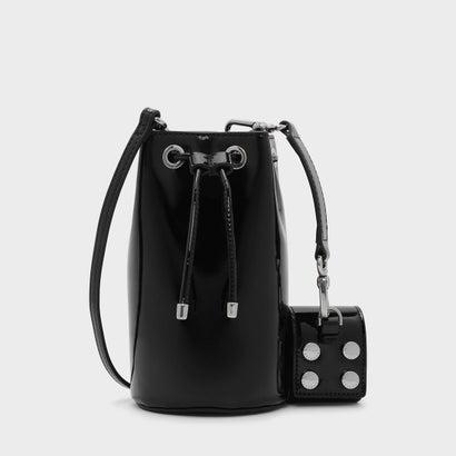 テキスチャードドローストリングバッグ / TEXTURED DRAWSTRING BAG (Black)