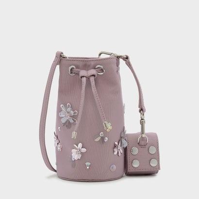 テキスチャードドローストリングバッグ / TEXTURED DRAWSTRING BAG (Lilac)