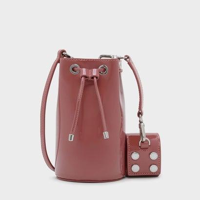 テキスチャードドローストリングバッグ / TEXTURED DRAWSTRING BAG (Pink)