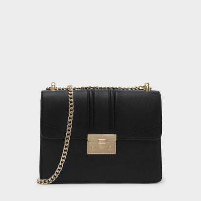 プッシュロックショルダーバッグ / PUSH-LOCK SHOULDER BAG (Black)