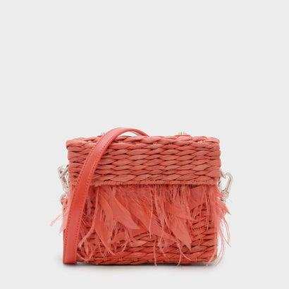 フェザードストロースリングバッグ / FEATHERED STRAW SLING BAG (Orange)