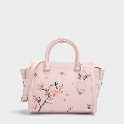 インフルブルームラージストラクチャードバッグ / IN FULL BLOOM LARGE TRUCTURED BAG (Pink)