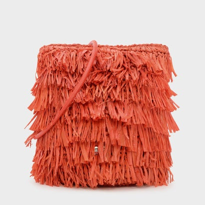 ラフィアディテールクロスボディバッグ / RAFFIA DETAIL CROSSBODY BAG (Orange)