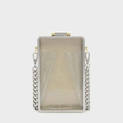 フローラル アクリルクラッチ / FLORAL ACRYLIC CLUTCH (White)