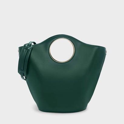 サーキュラーカットアウトハンドルトートバッグ / CIRCULAR CUT OUT HANDLE TOTE BAG (Green)