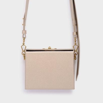 パールエンベリッシュボクシィクラッチ / PEARL EMBELLISHED BOXY CLUTCH (Rose Gold)