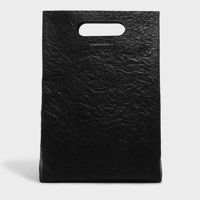 カットアウトハンドルストラクチャーバッグ / CUT OUT HANDLE STRUCTURED BAG (Black)