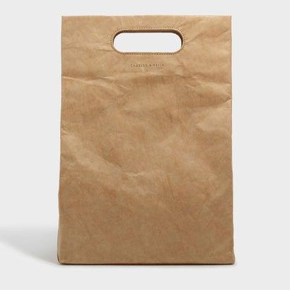 カットアウトハンドルストラクチャーバッグ / CUT OUT HANDLE STRUCTURED BAG (Beige)