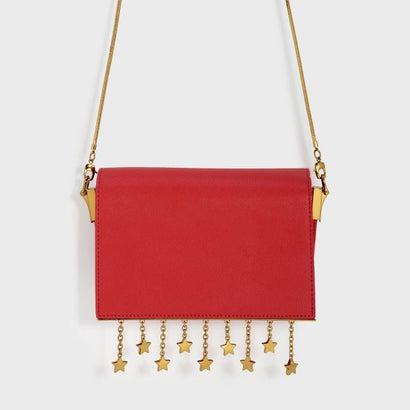 チェーンディテールクロスボディバッグ / CHARM DETAIL CROSSBODY BAG (Red)