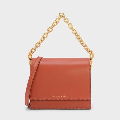 フロントフラップ チェーンディテール バッグ / FRONT FLAP CHAIN DETAIL BAG (Orange)
