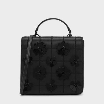 キルトフロントフラップバッグ / QUILTED FRONT FLAP BAG (Black)