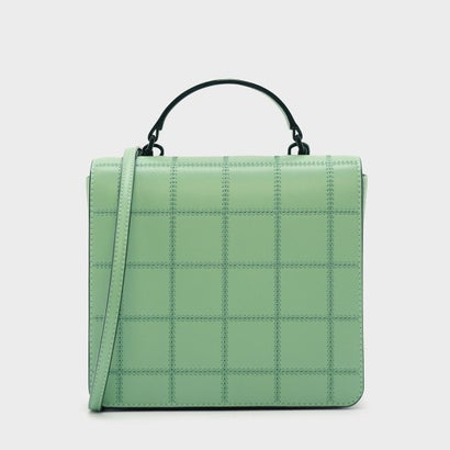 キルトフロントフラップバッグ / QUILTED FRONT FLAP BAG (Green)