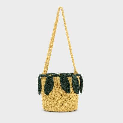 キッズクロシェパイナップルクロスボディバッグ / KIDS CROCHET PINEAPPLE CROSSBODY BAG (Yellow)