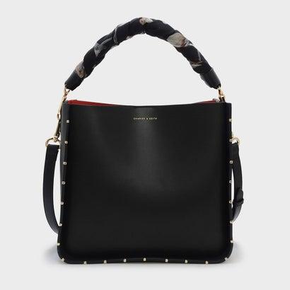 スカーフラップハンドルバッグ / SCARF WRAPPED HANDLE BAG (Black)