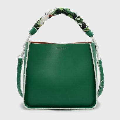 スカーフ ラップハンドル バッグ / SCARF WRAPPED HANDLE BAG (Green)