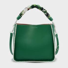 スカーフラップハンドルバッグ / SCARF WRAPPED HANDLE BAG (Green)